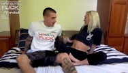 Hot sex tube - Super popular tatted big cock boy lays it down on tiny petite blonde