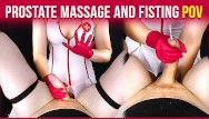 Raise your fist in the air Prostate massage with handjob and fisting from your nurse era