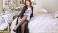 Virgin island diamonds - Hot mature beau diamonds in lacy corselette and nylons toying tight pussy