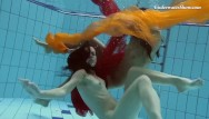Women naked by the pool - Teens swimming naked in the pool all alone and horny