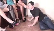 Glamour girls tits milfs Sadistic glamour girls order guys to feet worship