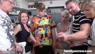 Family fucking orgys Son learns how to fuck from caring family