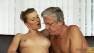 Real old man sex Daddy4k. beautiful sexy lady has hot sex with old man on his giant villa