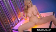 Hot girl strips nude - Hot stripper mom busty milf julia ann finger fucks after stripping
