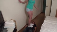 Young redhead porn - Young femdom trampling