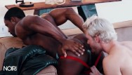 Gay asian interracial massage - Noirmale - white boy gets bounded by black jock