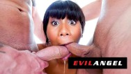 Ebony blowjob on white Evilangel - jenna foxx face fucked by 2 white dicks