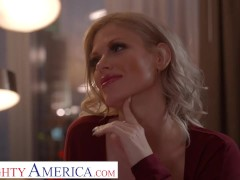 Naughty America Blonde Porn Industry Star Casca Akashova Fucks Her Client In His Room