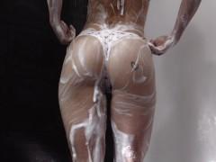 Secretcrush4k - Soapy Lush Backside & Flawless Baps Teenage Jerking In Shower