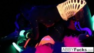 Mac mature Black light fun night with abigal ava