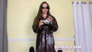 Where is milf - She keeps raincoat trench coat on sucking fucking creampie - lelu love