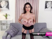 British babe Zara Mae wanks in lingerie at Babestation
