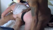 Daily milf blog Busty amateur fucking two dicks at once in interracial threesome