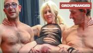 Gangbanged slut movies Large labia slut filling her holes