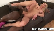 Wank db granny interracial Granny gets her pussy pounded by bbc