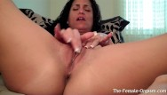 Vintage drip Horny girl at home edges dripping wet pussy to orgasm with big contractions