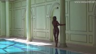Naked voyer pool Mary kalisy russian pornstar swims naked in the hot pool