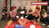 Gang bang creampie dumpster girl video Group bang from hell