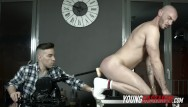 Gay muscle slave Muscled slave for pervy fuck machine session