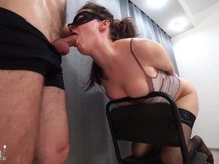 Handcuffed Babe Deepthroat and Hard Anal after Spanking Big Ass