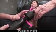 Asian screaming with a black cock Miina kanno screams and shakes tits while getting fucke