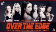 Adult female sex xxx Angela white hosts over the edge jerk off edging challenge - adult time