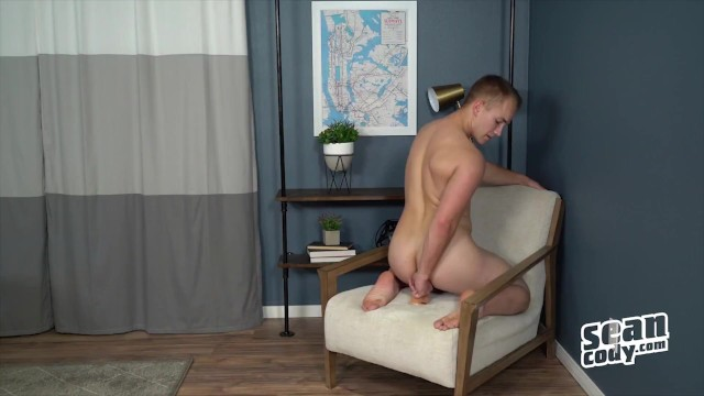 Sean Cody - Blonde hunk Kit jerking off and riding a toy