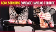 Soundboards orgasm Cock sounding bondage with teasing and edging handjob torture era