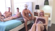 Orgy gangbang video Pregnant milfs fantasy is being gangbanged by 3 cocks