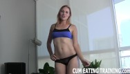 Boys eating cum Cei femdom and cum eating fetish videos