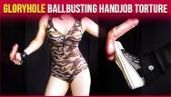 Nude muscle men tortured Gloryhole ballbusting military cock balls handjob torture era