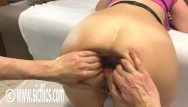 Fist fucking amateur 006 Double fisting his gfs ass