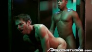 Caribou gay Falconstudios - reserved businessman visits glory hole room