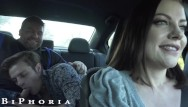 Morning fuck ubes Biphoria - hot uber driver joins frisky gay couple in backseat