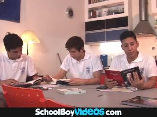 High School Boy Scenes – Very Cute Twink Banged