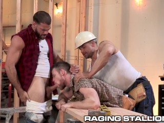 Construction Workers Show New Guy How It's Done On This Team