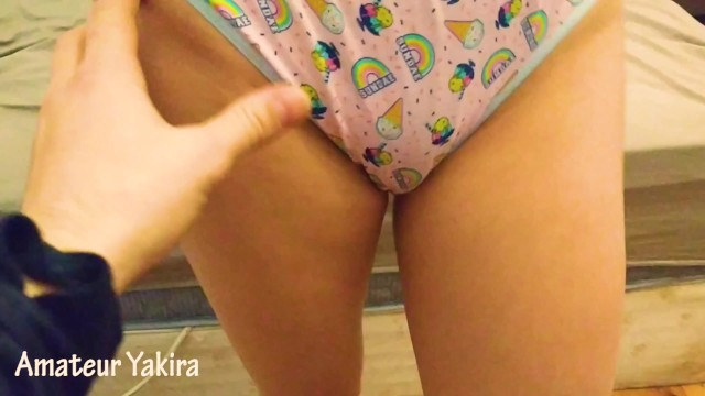 REAL !! Playing with my little StepSister in sexy panties before going to bed