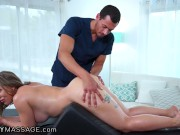 He Anally Fucks Her During Her Bolster Massage