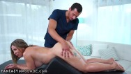 Fingered he her pussy He anally fucks her during her bolster massage
