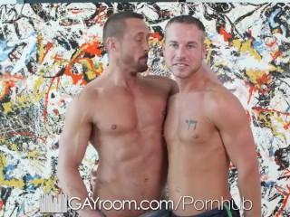 GayRoom Big dick swallowers love taste cum