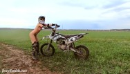 Amateur on carbon fiber bike Hot sexy jeny smith with a dirt bike