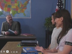 Genderx - Transsexual College Girl Natalie Mars Torn Up In The Classroom