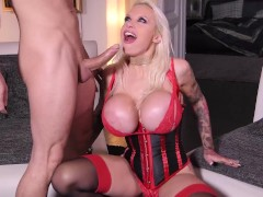 Watch Meaty Melon Platinum-blonde Sophie Anderson Get All Fuck-holes Fucked In Xxxtreme Double Penetration Threesome