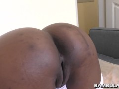Black african slut doggystyle and creampie