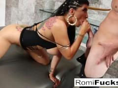 Romi Gets Van's Guy Goo All Over Her Face