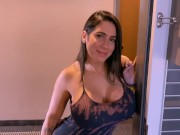 Real Amateur Latina knocked on my door asking for oral sex and ended up getting more than that.