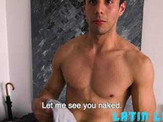 Cute Latin Boy With Green eyes Riding Camera Guy