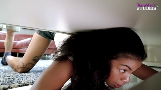 Hot Step Daughter is Fucked While Stuck Under the Bed - Maya Farrell
