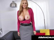 Beautiful Busty Milf Julia Ann Stuffs Her Mature Mouth With Rock Hard Dick!