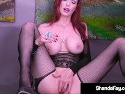 Sex Crazy Canadian Cougar Shanda Fay Fucks Her Mature Muff Until She Cums!